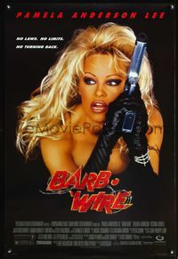 5m106 BARB-WIRE 1sh '96 sexiest comic book hero Pamela Anderson in title role w/gun!