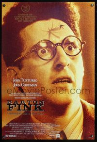 5m107 BARTON FINK DS 1sh '91 Coen Brothers, close-up of John Turturro w/mosquito on forehead!