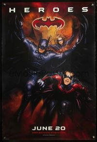 5m006 BATMAN & ROBIN advance signed 1sh '97 by Clooney, O'Donnell, & Silverstone!