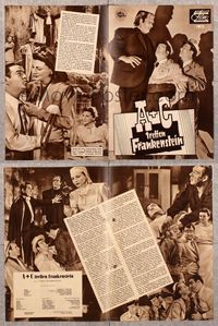 5v060 ABBOTT & COSTELLO MEET FRANKENSTEIN German program '48 and also the Wolfman & Dracula!