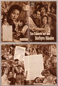 5v063 BLOOD OF THE VAMPIRE German program '58 he begins where Dracula left off, different images!
