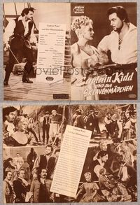 5v067 CAPTAIN KIDD & THE SLAVE GIRL German program '54 Eva Gabor, sails unfurled, love untamed!