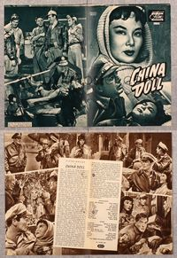 5v071 CHINA DOLL German program '58 many images of Flying Tiger Victor Mature & Li Li Hua!