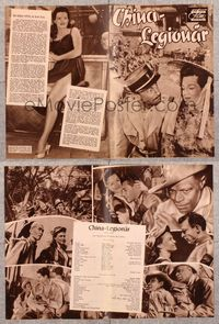 5v072 CHINA GATE German program '57 Samuel Fuller, Angie Dickinson, Gene Barry, Nat King Cole!