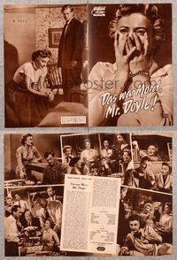 5v074 CRIME OF PASSION German program '57 terrified Barbara Stanwyck, creepy Sterling Hayden!
