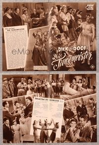 5v076 DANCING MASTERS German program '43 many different images of Stan Laurel & Oliver Hardy!