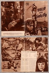 5v077 DAVID & GOLIATH German program '61 Orson Welles as King Saul, Ivica Pajer as David!