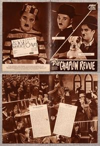 5v070 CHAPLIN REVUE German program '60 many great images of Charlie from three classic movies!