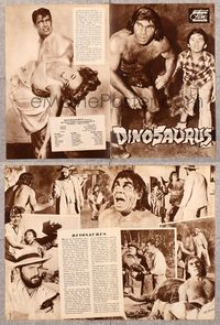 5v079 DINOSAURUS German program '60 great different prehistoric caveman images!