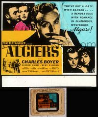 5v012 ALGIERS glass slide '38 Charles Boyer loves sexiest Hedy Lamarr, but can't leave the Casbah!
