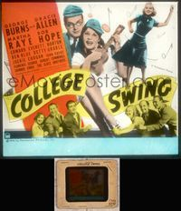 5v018 COLLEGE SWING glass slide '38 George Burns & Gracie Allen, Martha Raye, Bob Hope