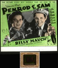 5v048 PENROD & SAM glass slide '37 solo Billy Mauch in Booth Tarkington's juvenile classic!
