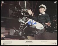 6f033 SILENT MOVIE color signed 11x14 still #5 '76 by Mel Brooks, who's c/u directing in sailor cap!