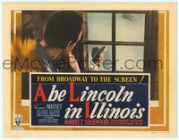 6f061 ABE LINCOLN IN ILLINOIS TC '40 Raymond Massey watches Mary Howard outside his window!