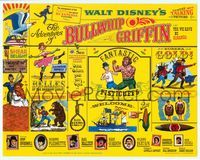 6f062 ADVENTURES OF BULLWHIP GRIFFIN TC '66 Disney, beautiful belles, mountain ox battle!