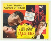 6f064 ALGIERS TC R53 Charles Boyer loves sexiest Hedy Lamarr, but he can't leave the Casbah!