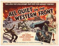 6f066 ALL QUIET ON THE WESTERN FRONT TC R50 Lew Ayres in a story of blood, guts and tears!