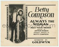 6f068 ALWAYS THE WOMAN TC '22 Betty Compson is an American actress on an ocean cruise to Egypt!