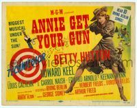 6f070 ANNIE GET YOUR GUN laminated TC R56 Betty Hutton as the greatest sharpshooter, Howard Keel