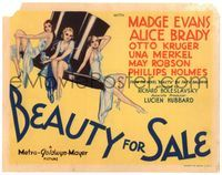 6f072 BEAUTY FOR SALE TC '33 great art of sexy Evans, Brady & Merkel perched on top hat!