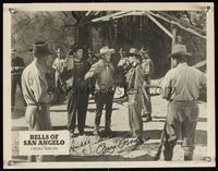 6f009 BELLS OF SAN ANGELO signed LC R52 by Roy Rogers & Andy Devine, who are caught by bad guys!