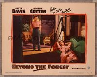 6f002 BEYOND THE FOREST signed #7 LC '49 by Bette Davis, who is lounging on a couch by Joseph Cotten!