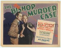 6f076 BISHOP MURDER CASE TC '30 Basil Rathbone as detective Philo Vance with scared Leila Hyams!