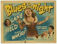 6f079 BLUES IN THE NIGHT TC '41 pretty Priscilla Lane & Betty Field, Richard Whorf playing trumpet!