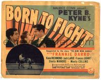 6f083 BORN TO FIGHT TC '36 Kane Richmond trains Frankie Darro to be a champ boxer!