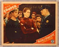 6f340 BOY OF THE STREETS LC '38 policeman talks to Jackie Cooper & other tough teen gang members!