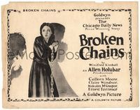 6f085 BROKEN CHAINS TC '22 cool full-length artwork of Colleen Moore in chains and shackles!