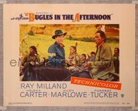 6f345 BUGLES IN THE AFTERNOON LC #6 '52 close up of cavalry officer Ray Milland w/Native Americans!