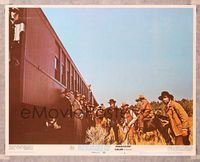 6f350 BUTCH CASSIDY & THE SUNDANCE KID LC #4 '69 The Hole in the Wall Gang prepares to rob train!