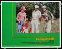 6f352 CADDYSHACK int'l LC #5 '80 Chevy Chase, Bill Murray & Michael O'Keefe golfing, be the ball!