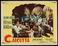6f354 CALCUTTA LC #5 '46 Alan Ladd, Gail Russell & William Bendix at nightclub in India!