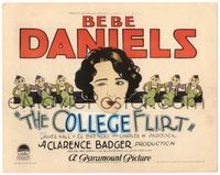 6f089 CAMPUS FLIRT TC '26 great artwork of sexy Bebe Daniels winking at cartoony college boys!