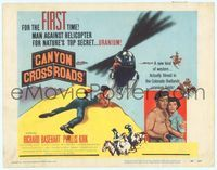 6f090 CANYON CROSSROADS TC '55 man against helicopter for nature's top secret uranium!