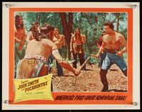6f359 CAPTAIN JOHN SMITH & POCAHONTAS LC #8 '53 c/u of Anthony Dexter fighting Native American!