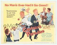 6f091 CAPTAIN'S PARADISE TC '53 great artwork & photos of Alec Guinness trying to juggle two wives!
