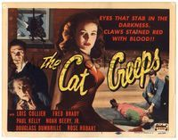 6f093 CAT CREEPS TC R51 Lois Collier, Paul Kelly, thrill a minute, a shiver a second!
