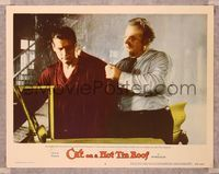 6f361 CAT ON A HOT TIN ROOF LC #2 '58 close up of Burl Ives & Paul Newman in the rain!