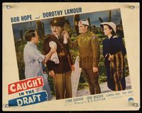 6f363 CAUGHT IN THE DRAFT LC '41 bandaged soldier Bob Hope with pretty Dorothy Lamour!