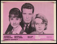6f367 CHILDREN'S HOUR LC #6 '62 best portrait of Audrey Hepburn, James Garner & Shirley MacLaine!