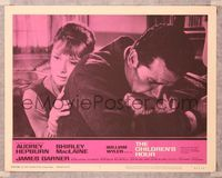 6f368 CHILDREN'S HOUR LC #7 '62 close up of anguished Audrey Hepburn & James Garner!