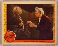 6f371 CHRISTMAS CAROL LC '38 great close fx image of Reginald Owen with ghost Leo G. Carroll!