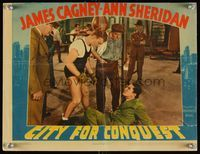 6f375 CITY FOR CONQUEST LC '40 c/u of boxer James Cagney knocking down gangster Bob Steele in gym!