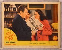 6f377 CITY WITHOUT MEN LC '42 sexy young Linda Darnell helps her man who is unjustly imprisoned!