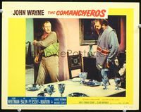 6f380 COMANCHEROS LC #6 '61 John Wayne orders man in pancho out of his house, Michael Curtiz!