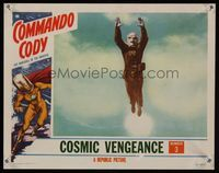 6f382 COMMANDO CODY chap 3 LC '53 best image of the Sky Marshal of the Universe flying in mid-air!