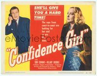6f096 CONFIDENCE GIRL TC '52 bad girl Hillary Brooke wants to give Tom Conway a hard time!